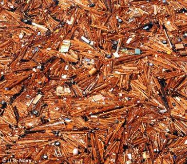 Trash pile in Pacific Ocean