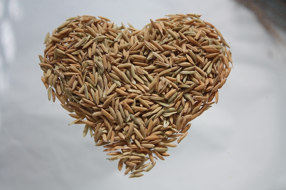Rice bran improves heart health.